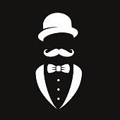 Gentleman icon set.