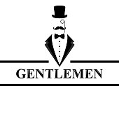 Gentleman icon. Suit icon isolated on white background. Flat design.