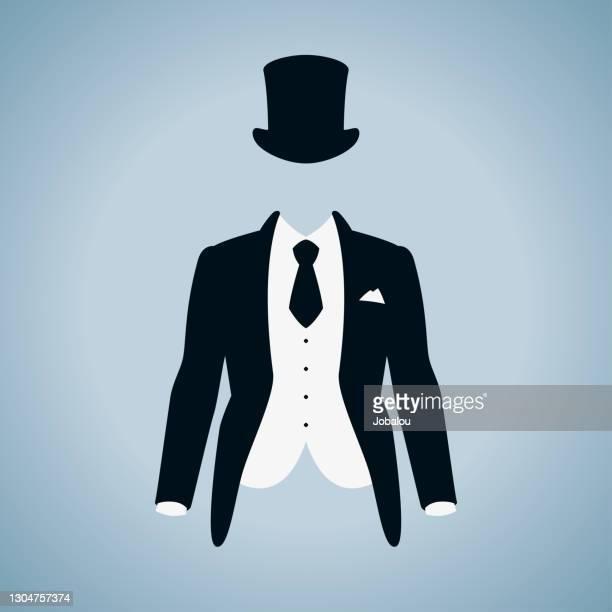 紳士のスーツアイコン - フォーマルウェア点のイラスト素材/クリップアート素材/マンガ素材/アイコン素材
