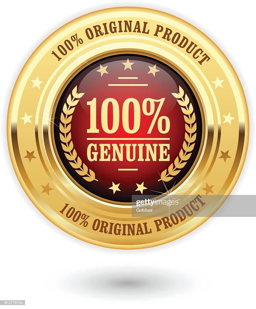 Genuine product - golden insignia (medal)