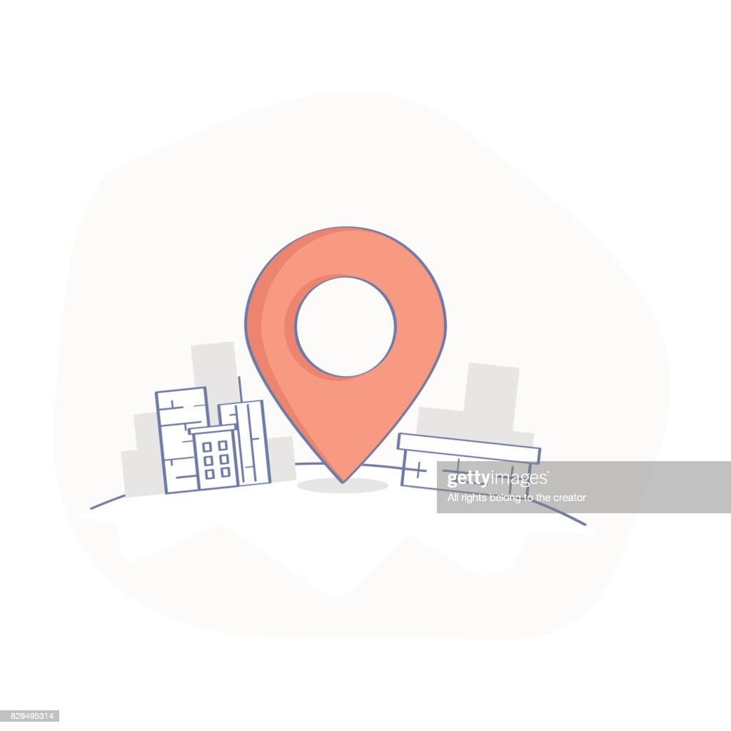 Geo map Pin, Delivery service or GPS location Point