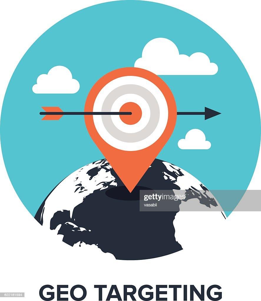 geo targeting flat concept