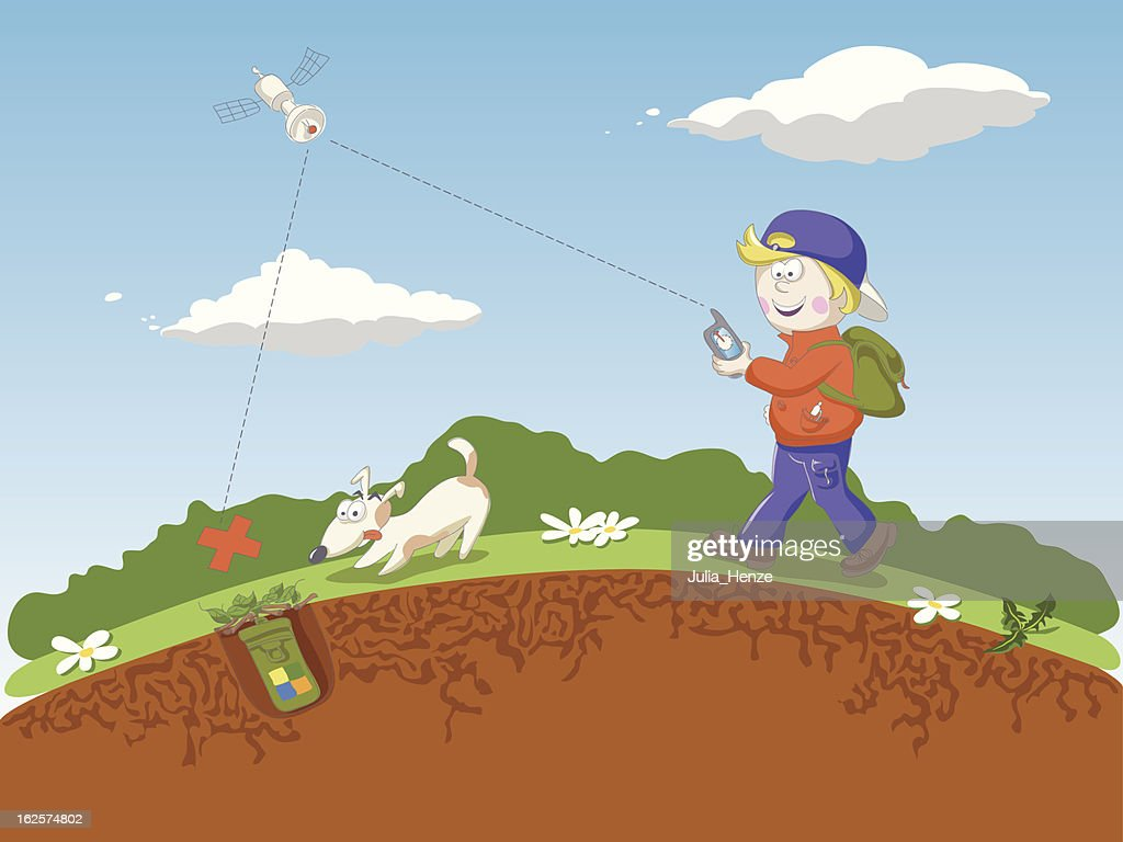 Geocaching High-Res Vector Graphic - Getty Images