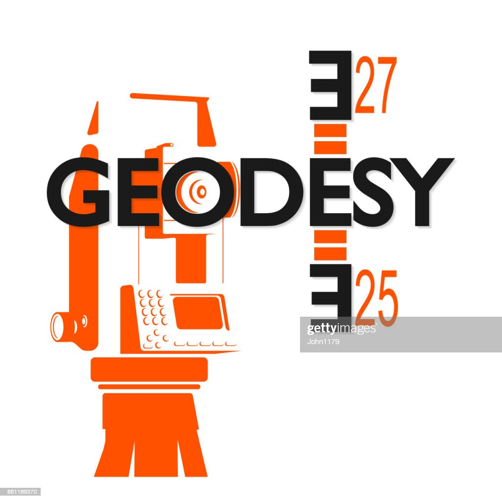 Geodesy symbol for business