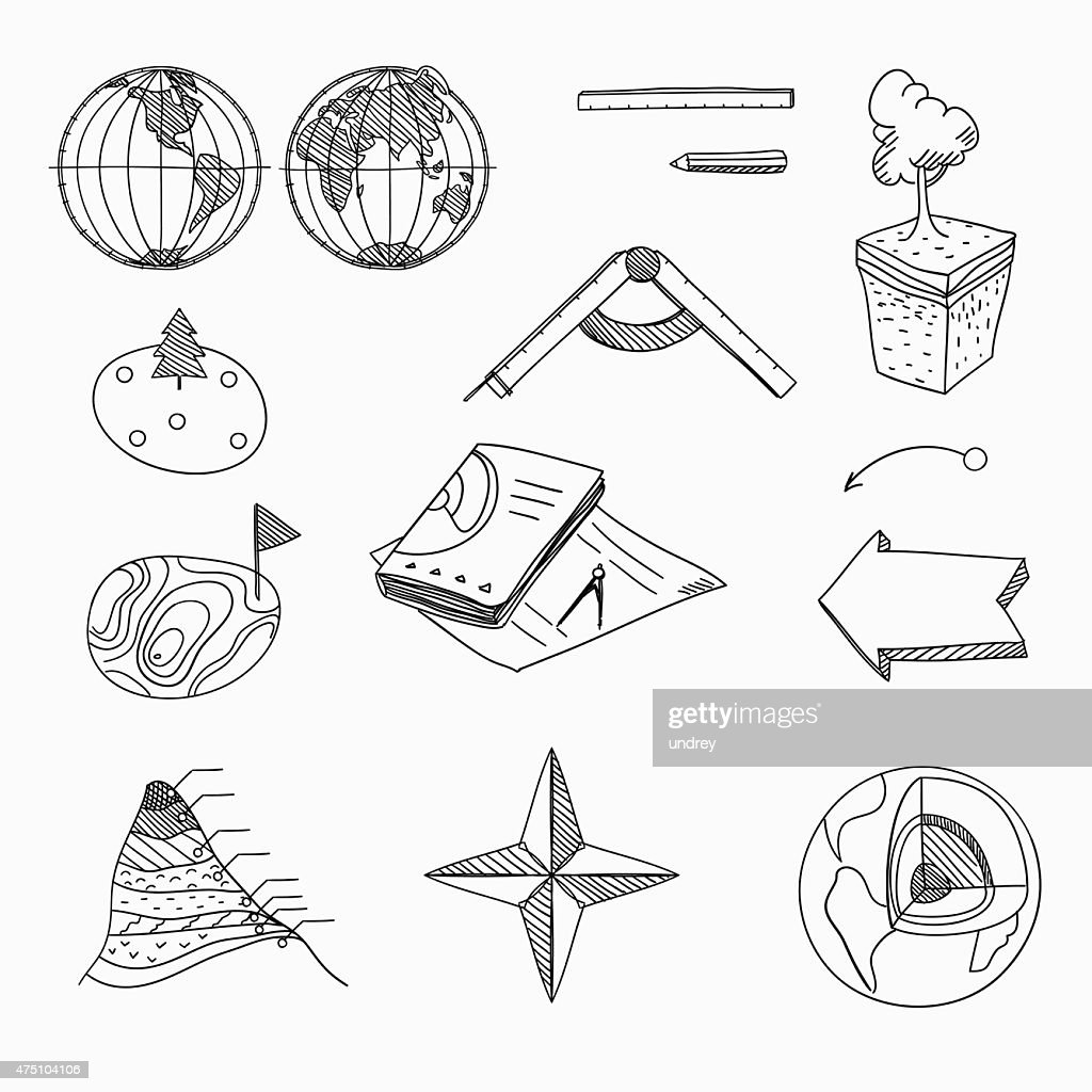 Geography lesson School objects and educational equipment Cartography topography Education