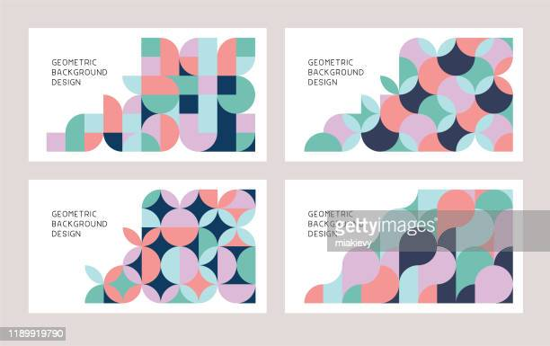 illustrazioni stock, clip art, cartoni animati e icone di tendenza di geometric abstract backgrounds - collezione