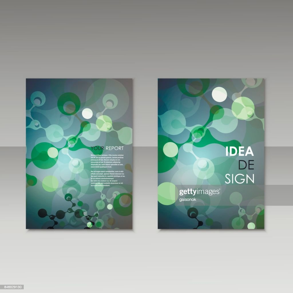 geometric abstract modern colorful brochure templates design elements molecule background - Colorful Brochure Templates