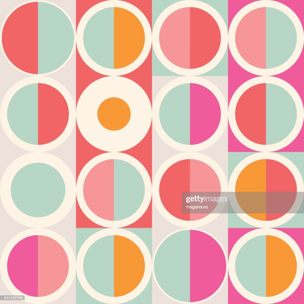 Geometric abstract seamless pattern. Simple motif background. Colorful decoration design.