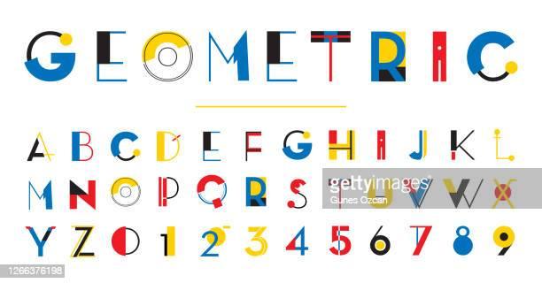 幾何学のアルファベット - 書体点のイラスト素材/クリップアート素材/マンガ素材/アイコン素材