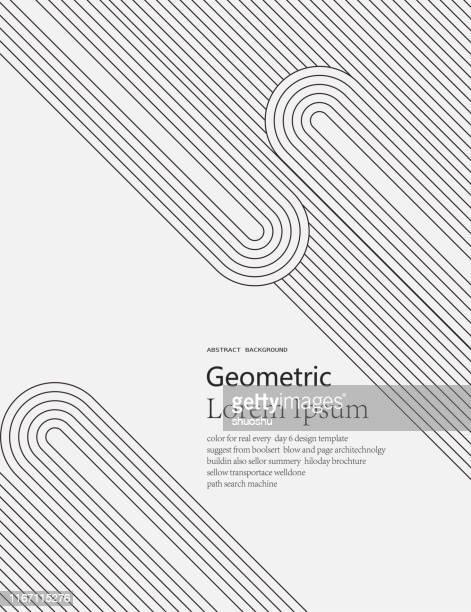geometric arrange line pattern background - vertical stock illustrations