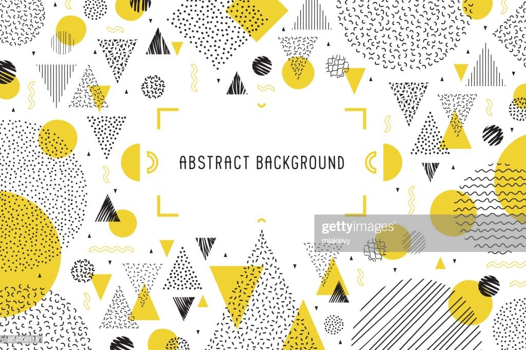Geometric background banner