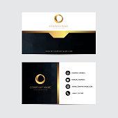 Geometric background business card design