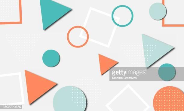 抽象要素図形を持つ幾何学的背景 - ポップ音楽点のイラスト素材/クリップアート素材/マンガ素材/アイコン素材