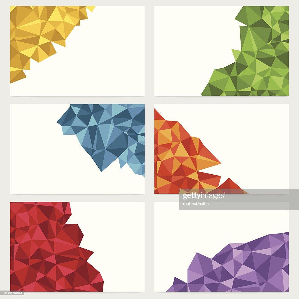 geometric banners : Vector Art