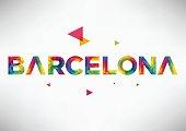 Geometric Barcelona City Vector Design