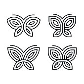 Geometric butterfly set