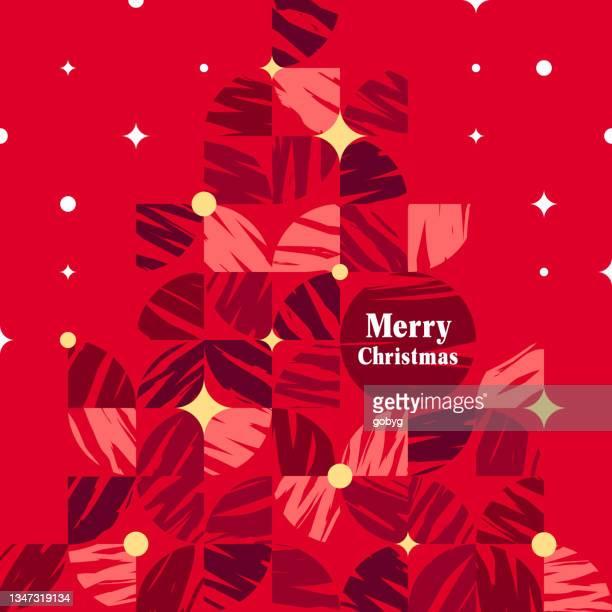 geometric christmas tree - christmas cash stock illustrations
