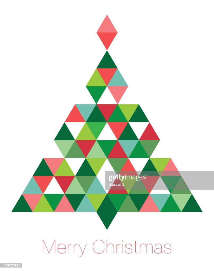 Geometric Christmas Tree Vector Art | Getty Images