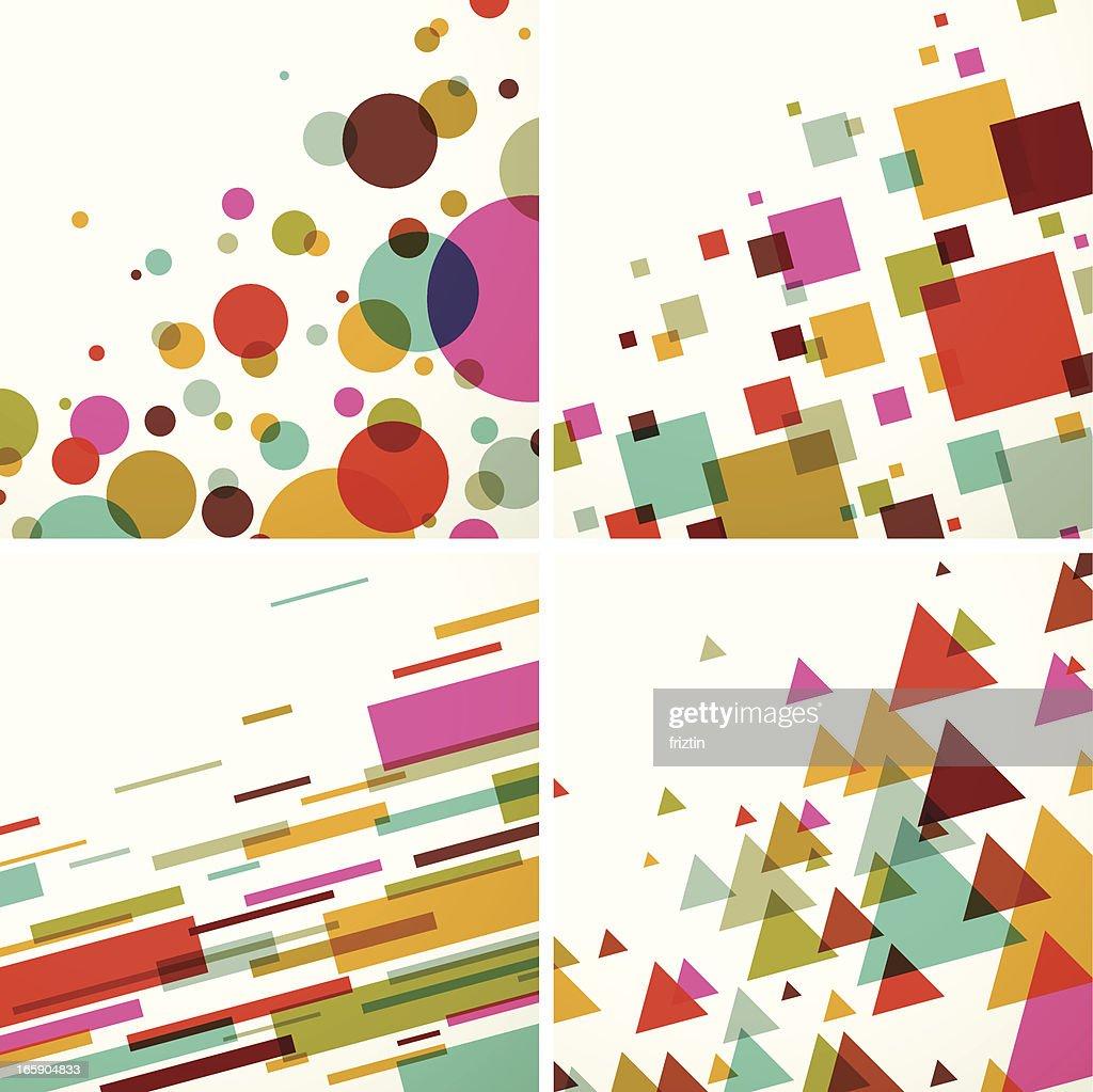 Geometric colors background set - EPS10