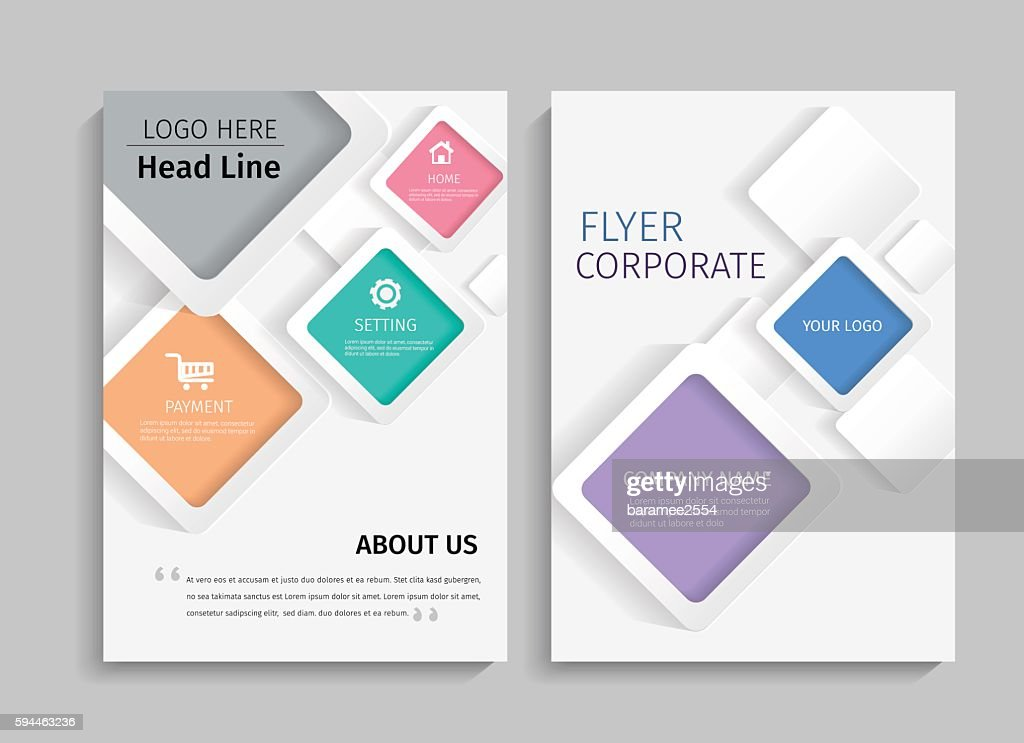Geometric design on background.Brochure template layout.