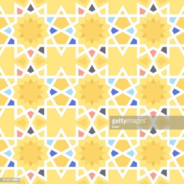 geometric design pattern - islam stock illustrations