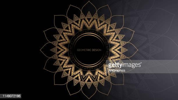 geometric design patterns background - mandalas india stock illustrations