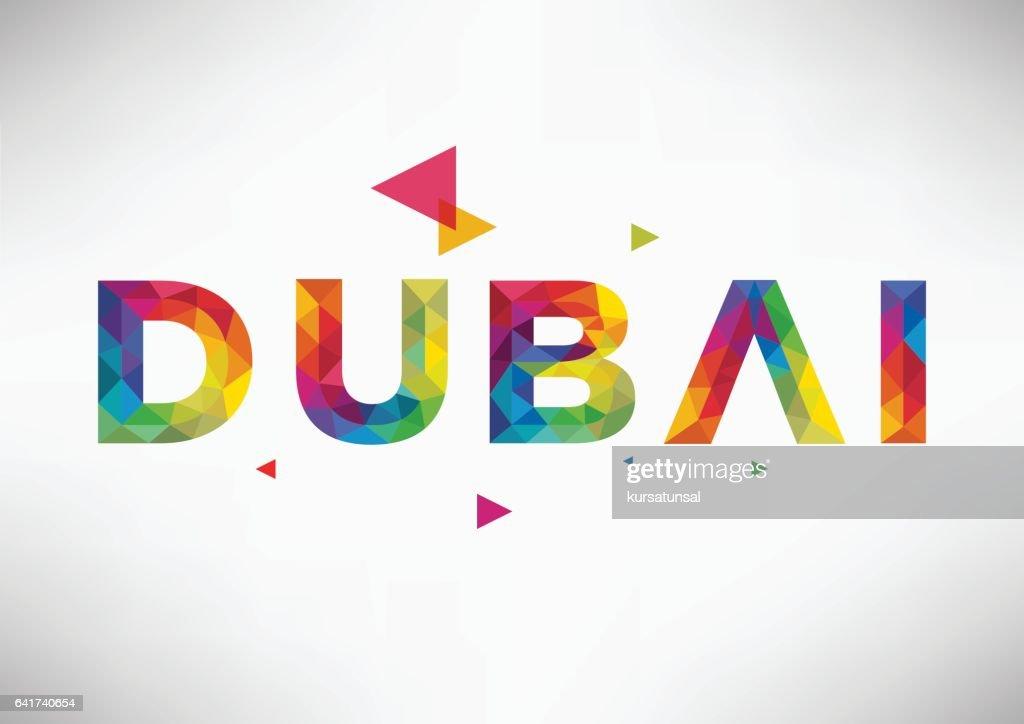 Geometric Dubai City Vector Design