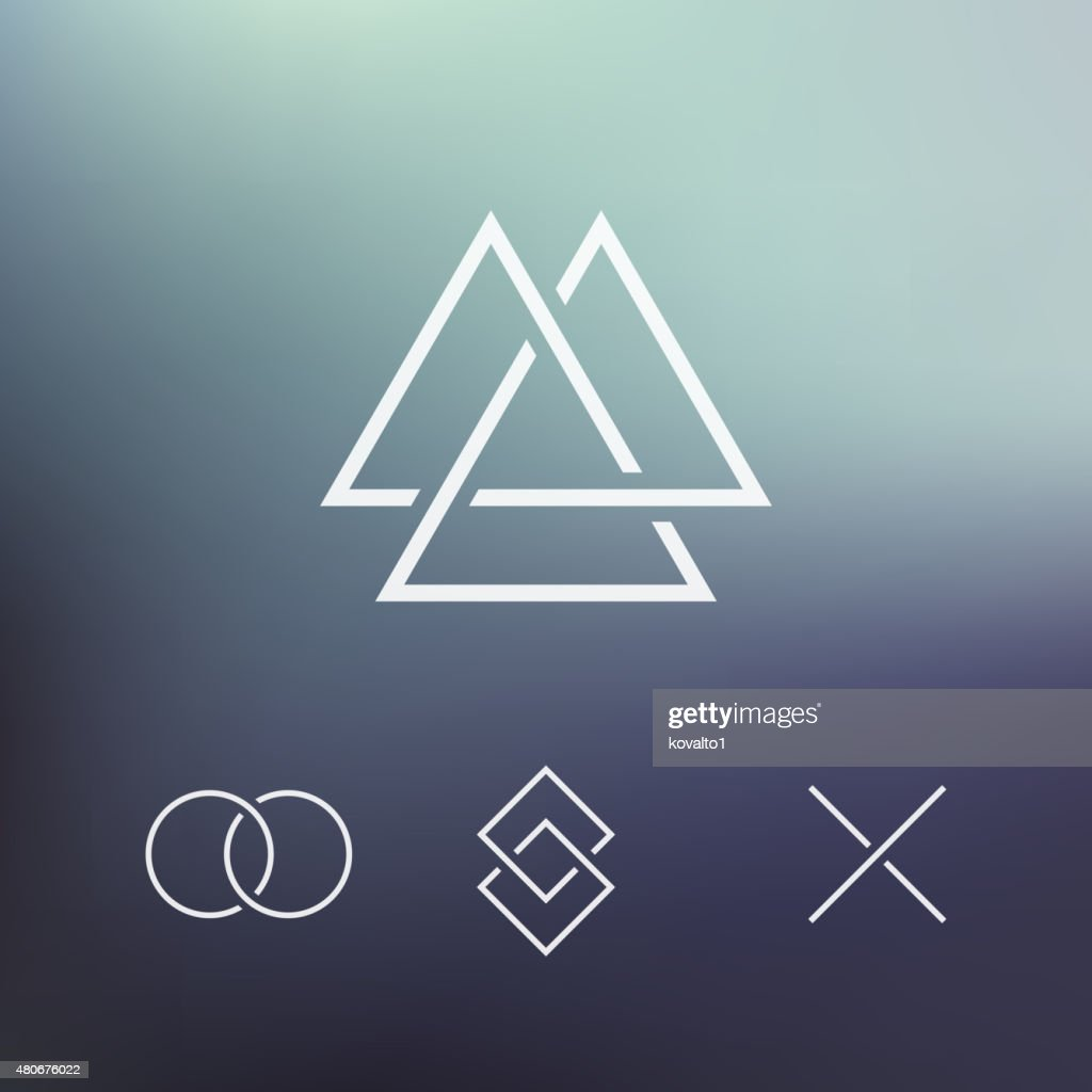 Geometric element, connected shapes, vector
