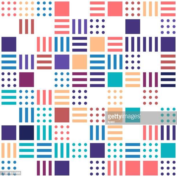 geometrische ethnische orientalische muster traditionelles design - mosaik stock-grafiken, -clipart, -cartoons und -symbole