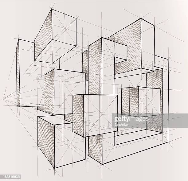 geometric figures - architecture stock illustrations, clip art, cartoons, & icons