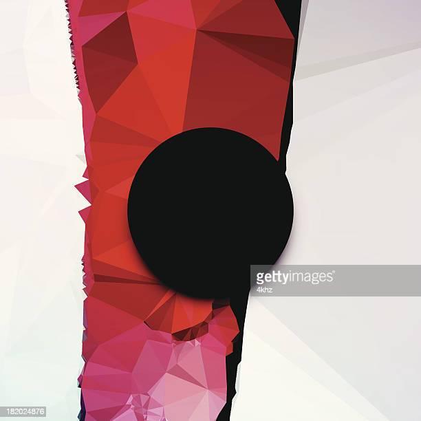 Problemas polígono futurista círculo geométrico abstrato de fundo Vector Moldura