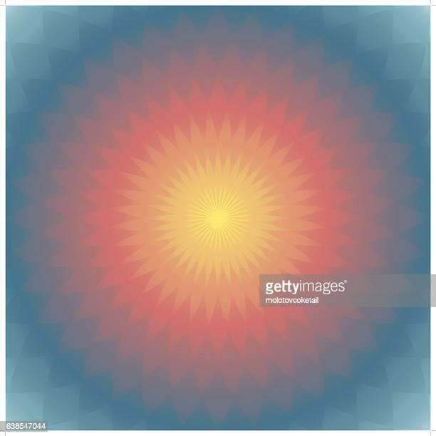 geometric glowing lotus background