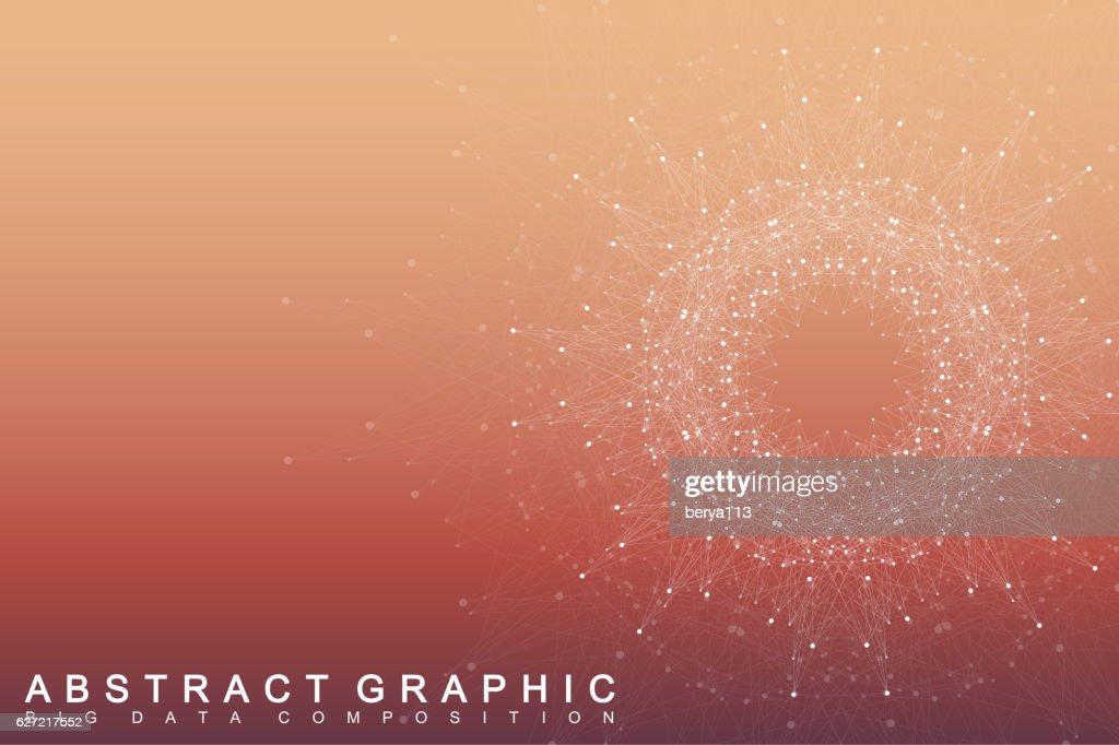 Geometric graphic background communication. Scientific vector illustration
