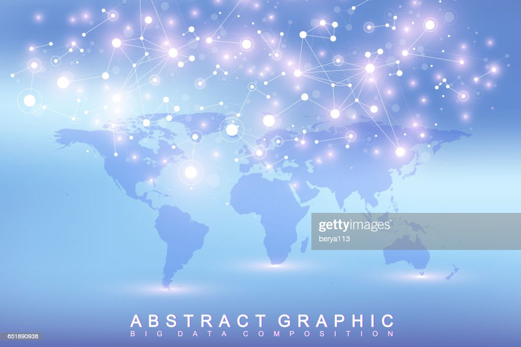 Geometric graphic background communication with political world map geometric graphic background communication with political world map big data complex with compounds perspective gumiabroncs Images
