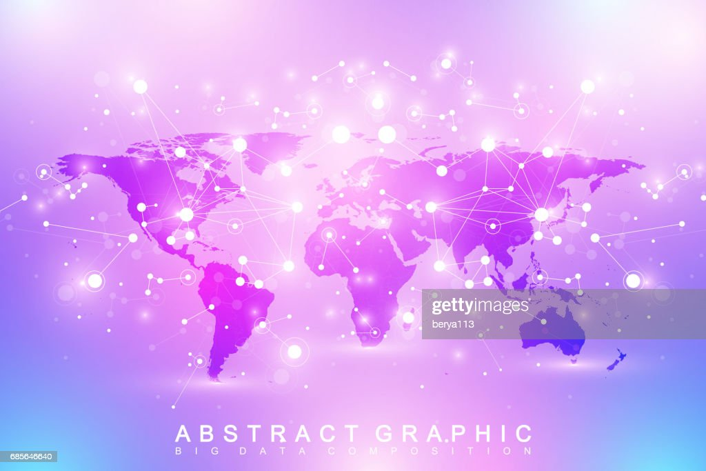 Geometric graphic background communication with political world map geometric graphic background communication with political world map big data complex with compounds perspective minimal array digital data visualization gumiabroncs Gallery