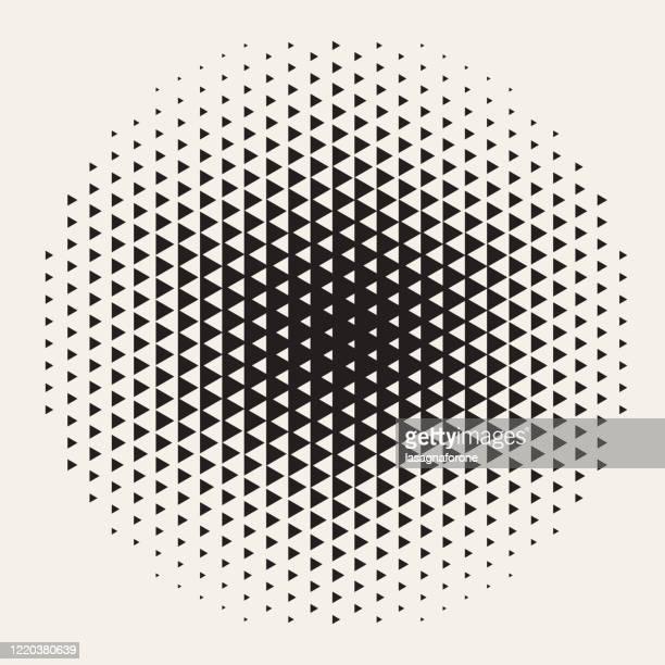 ilustrações de stock, clip art, desenhos animados e ícones de geometric halftone background design element - elemento de desenho