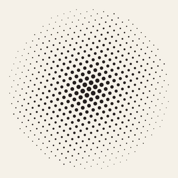 geometric halftone background seamless vector - cartoon stock illustrations