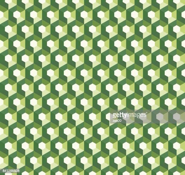 Geometric hexagon seamless patterns
