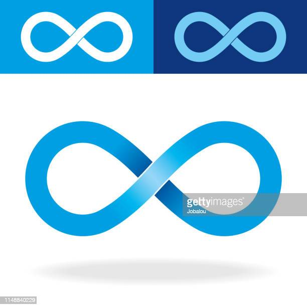 geometric infinity symbol - eternity stock illustrations