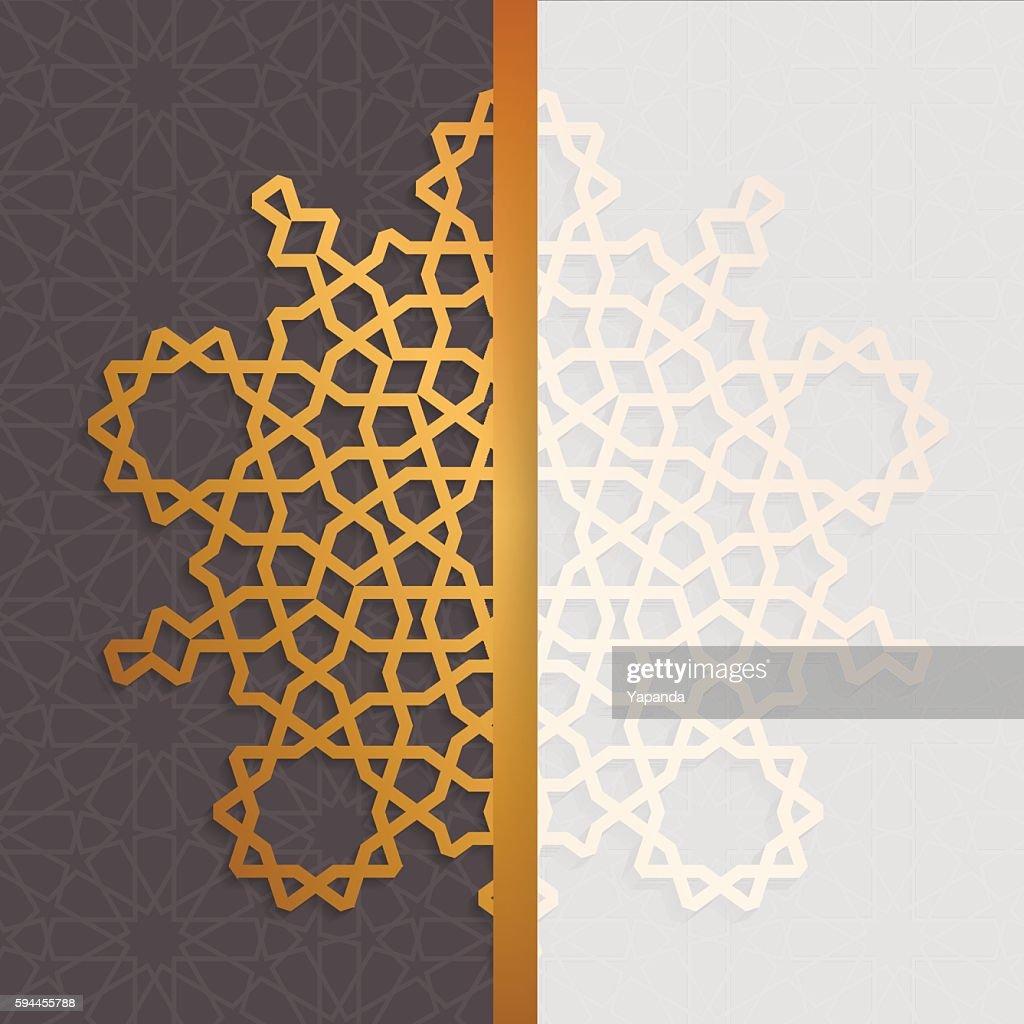 Geometric islamic pattern. Muslim background in arabian style