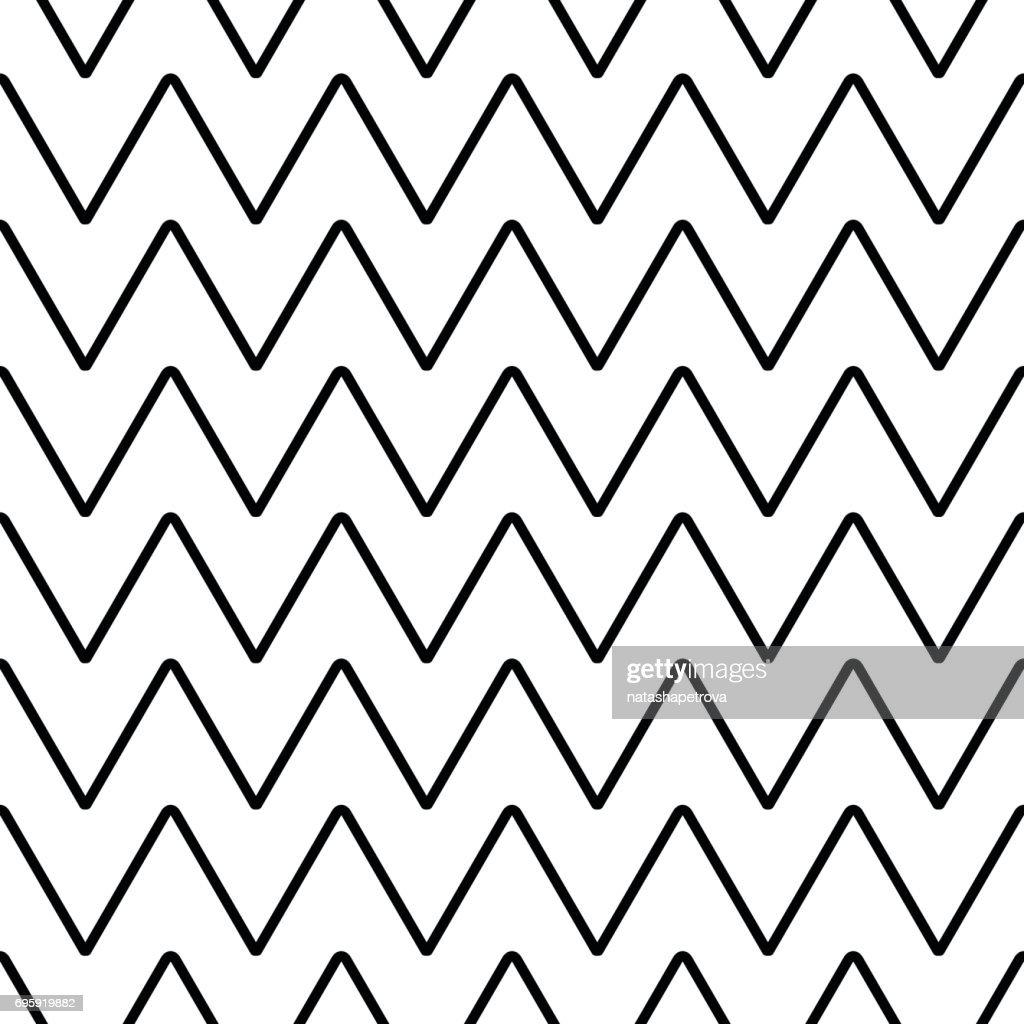 Geometric line monochrome abstract seamless chevron pattern