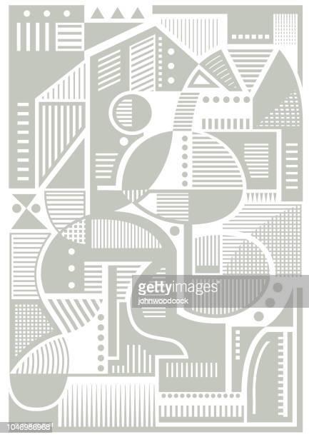 illustrations, cliparts, dessins animés et icônes de géométrique illustration minimaliste - cubisme
