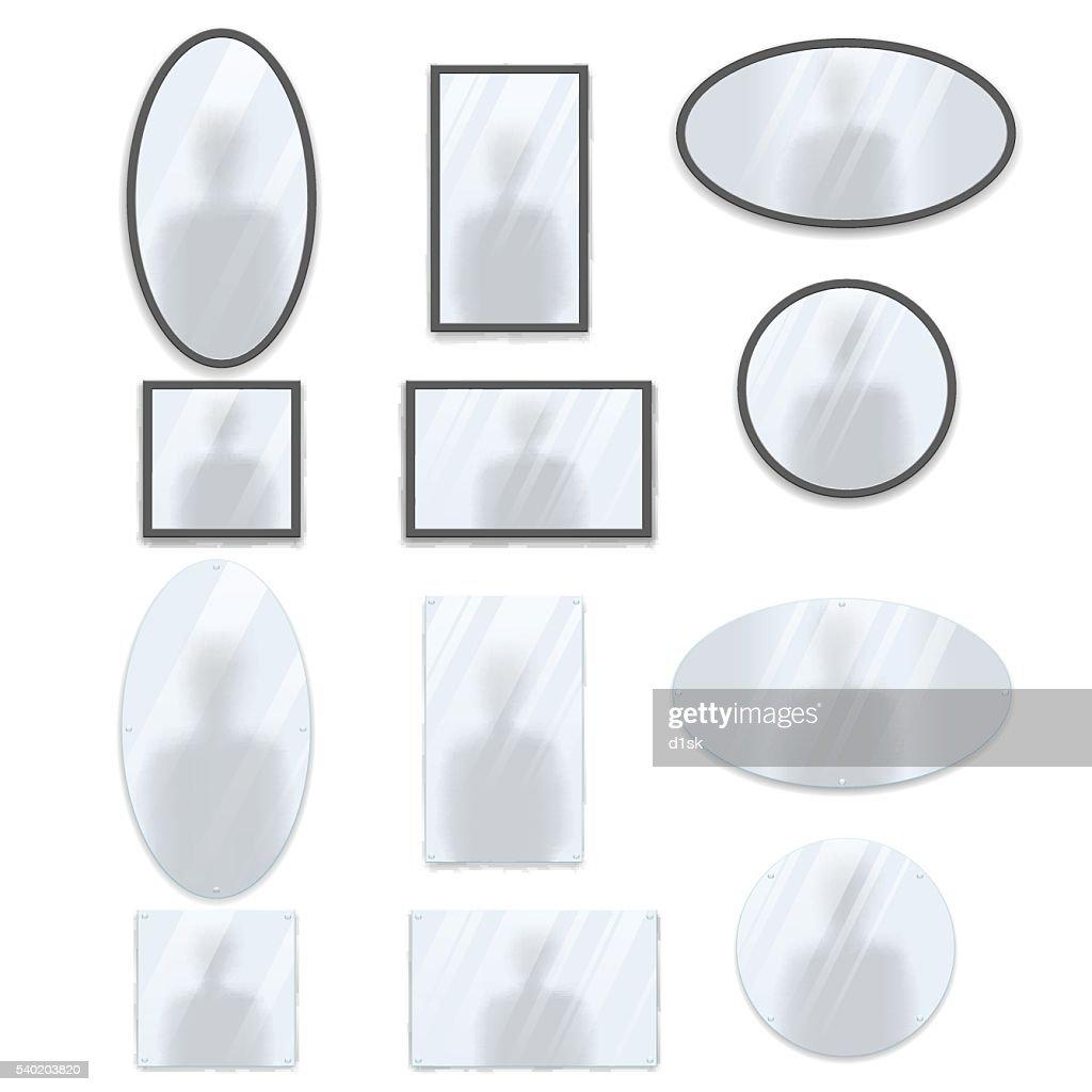 Geometric mirrors set