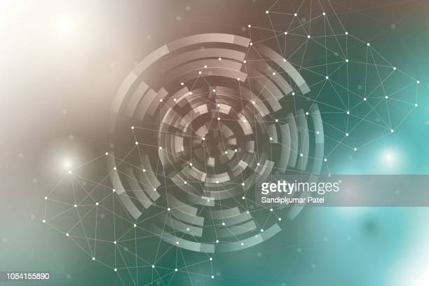 geometric networking connection concept background - signal flare stock illustrations, clip art, cartoons, & icons