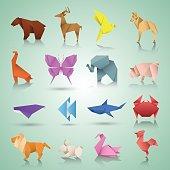 Geometric paper animals