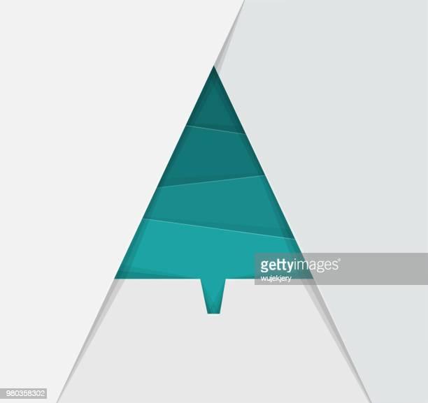 Geometrische, Papier-Weihnachtsbaum