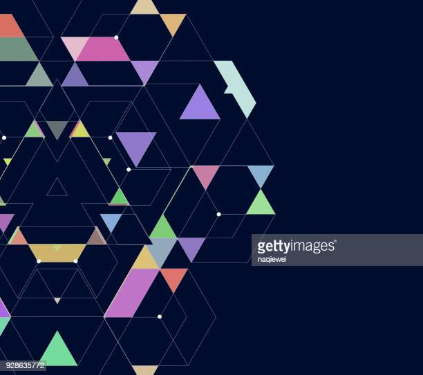 geometric pattern background - rhombus stock illustrations