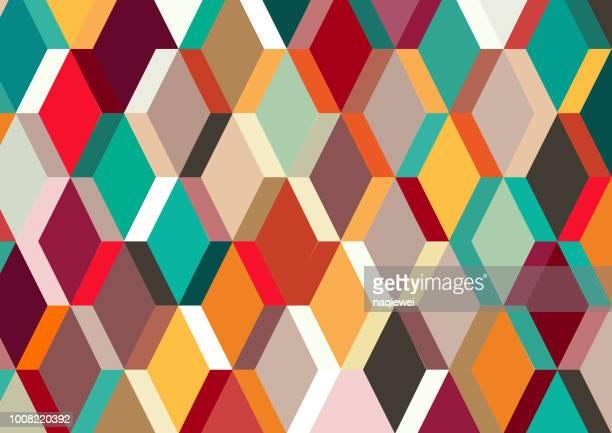 geometric pattern backgrounds - rhombus stock illustrations