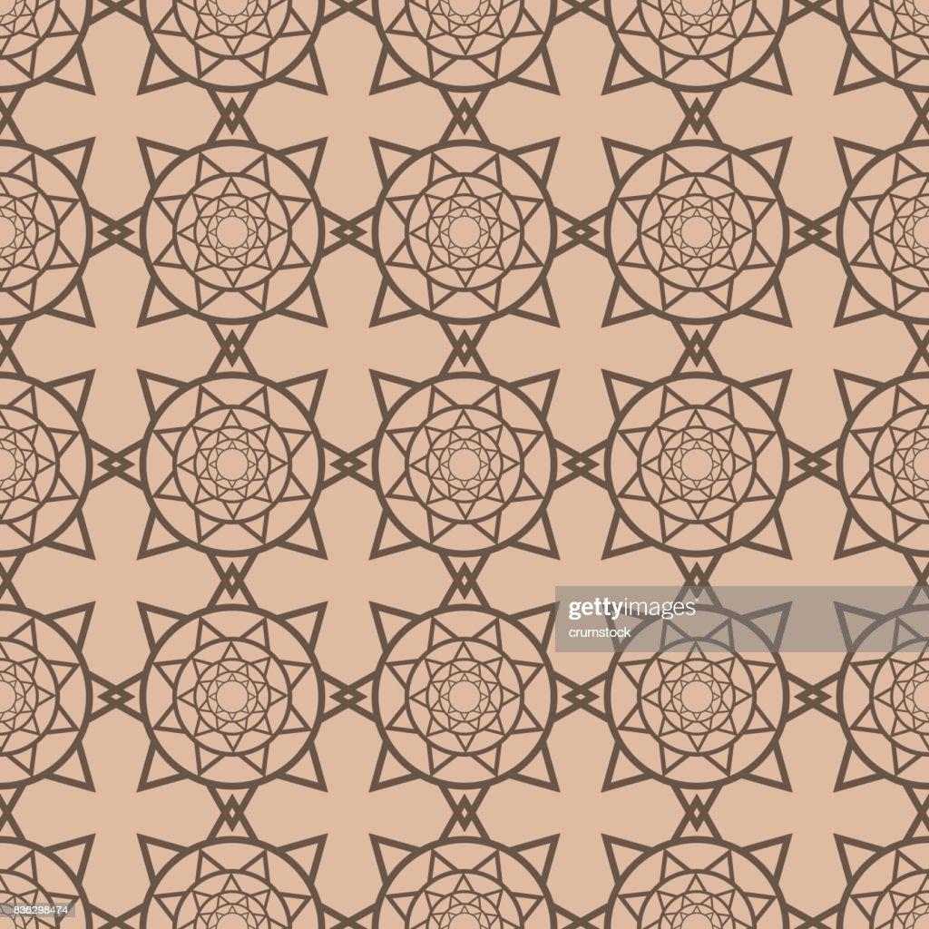 Geometrische Muster Für Tapeten. Braun Und Beige Nahtlose Hintergrund :  Vektorgrafik