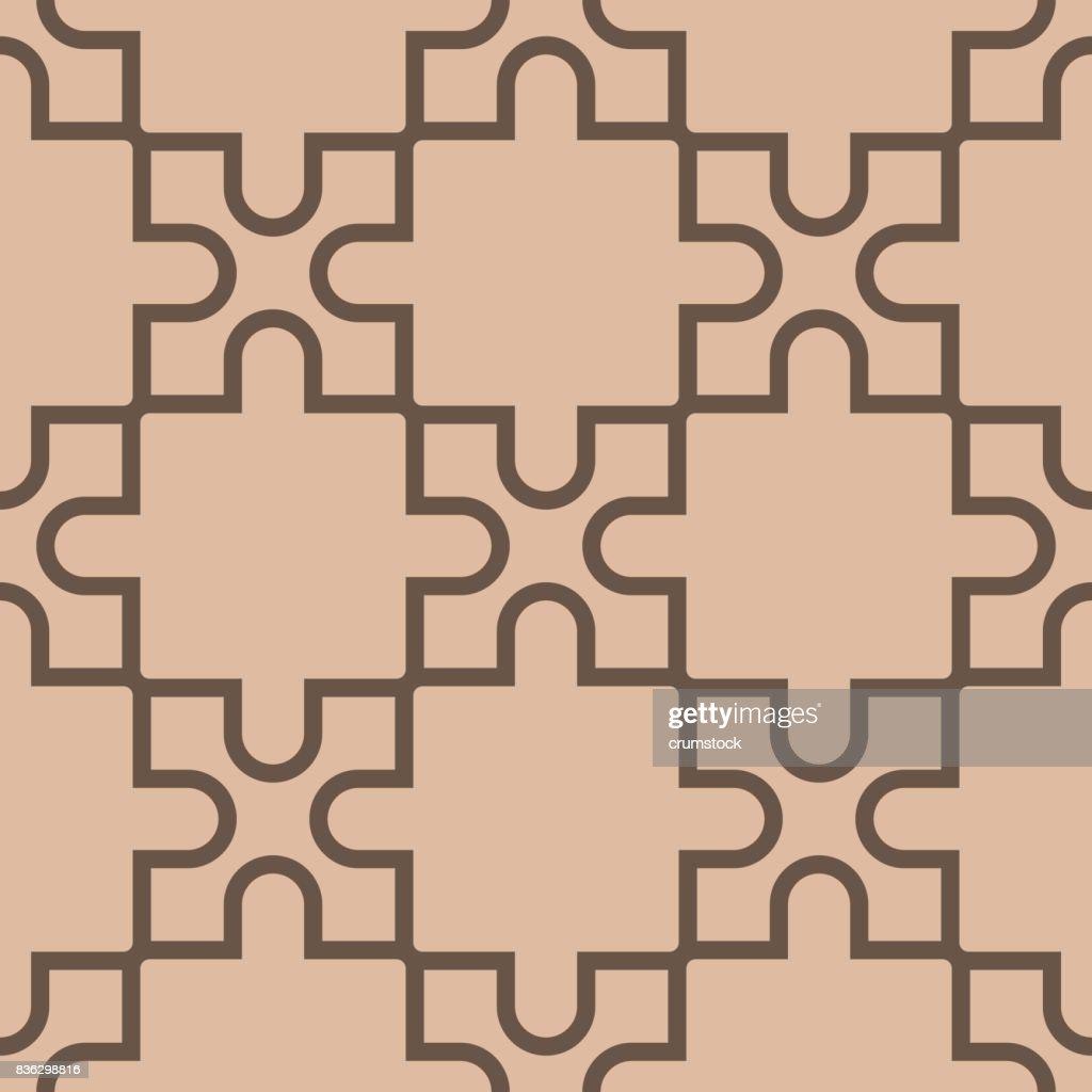 Geometrische Muster Für Tapeten. Braun Und Beige Nahtlose Hintergrund